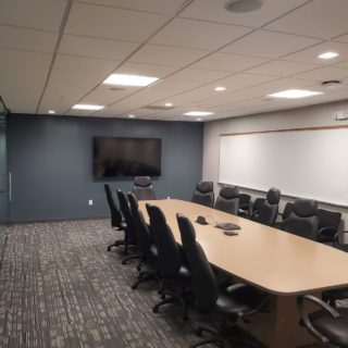 Completed tenant build out conference room #commercialrealestate #magnicospeed #officebuildout #cre #tenants